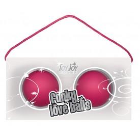 Веселые розовые вагинальные шарики Funky love balls